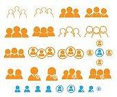 set of people, user, teamwork icon