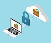 e-wallet, cloud computing security concept
