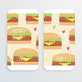 Hamburger vector illustration, retro concept
