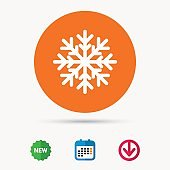 Snowflake icon. Air conditioning sign.
