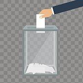Voting, election concept. Vector illustration flat design style.