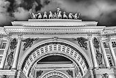 Facade of the General Staff Building, St. Petersburg, Russia