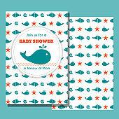Nautical baby shower card