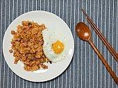 Korean food Kimchi fried rice