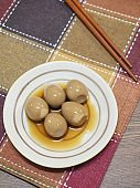 Asian food Soy Sauce Braised Quail Eggs