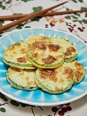 Korean food Pumpkin Pancake, hobak jeon