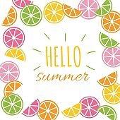 sliced lemon, lime and orange background
