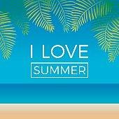 Summer holidays concept illustration vector.
