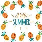 Hello Summer concept card.