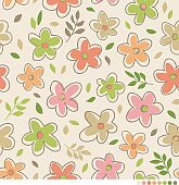 Cute simple flower pattern vector background