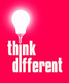 Think different light bulb