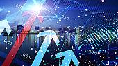 Success arrow, future technology, human science and technology progress