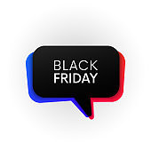 Black friday sale vector isolated banner.