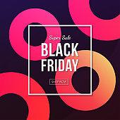 Black friday sale poster vector design.