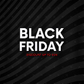 Black friday banner. Clean abstract striped background.
