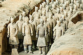 qin shihuang terracotta warriors,Statue,terracotta Soldiers,Xi'an,China - East Asia