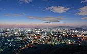 Seoul city of downtown skyline at nigth,Korea