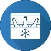 Portable refrigerator icon