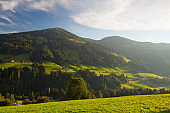 The alpine village of Alpbach and the Alpbachtal