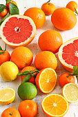 Fresh Citrus Juice Orange Lemon Lime Grapefruit