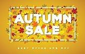 Autumn Sale typography design