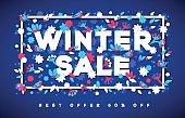 Winter Sale typography design