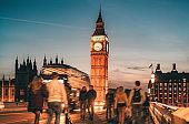 Westminster Bridge with Big Ben in London, UK