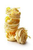 Italian Food: Tagliatelle Isolated on White Background
