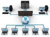 Computer network security firewall cyber data center