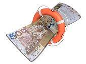 Hong Kong dollar money help lifeguard