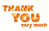Thank you greeting card, vector illustration