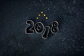 New Year 2018 - Christmas Cookie Cutter Stars Vintage Grundge