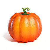 Pumpkin  3d rendering isolated illustration