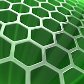 Green abstract hexagon background 3d illustration