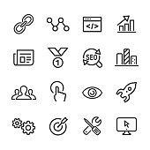 Internet Marketing Icons - Line Series