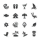 Tropical Vacations Icons - Acme Series