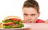 Boy and Hamburger