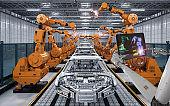 cyborg control robot assembly line