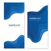 Paper cut design concept for flyers, presentations and posters.