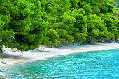 Adriatic coastal region in Dalmatia, Croatia