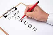 Checklist on white paper