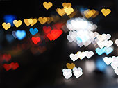 heart bokeh for Valentine's day background
