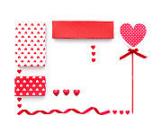 mock up template for Valentine's day on white background. View from above