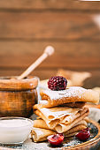 Russian traditional homemade pancakes