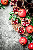 The juice of ripe pomegranate.