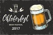 Oktoberfest poster. Hand made lettering.