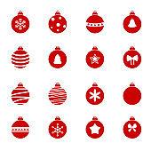 Colorful christmas balls set