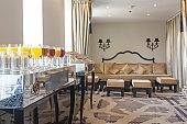 Buffet breakfast in luxury hotel