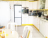 Blurred domestic kitchen  background