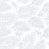 Seamless pattern vector floral background with hand drawn branches for textile, wrapping paper, adult cololring book etc.
